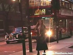 Crazy girl totally naked in a very busy street