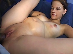 Molly May is horny as fuck and here this guy decided to help her get off by lending her his stiff