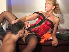 Smashing mature lady-boss going horny getting the most for mighty dicking