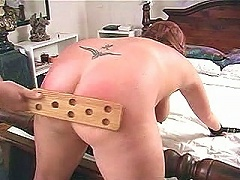 Here we have lovely Haley again offering her big fat ass for a good spanking, this time her partner made