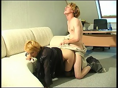 Lewd mature lady-boss having fucking amusement with her younger assistant