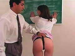 Haley has been seducing one of her fellow professors at school. Shed wear her lacy black panties and spread for him that