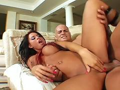Hardcore Eva Angelina gets fucked like crazy after masturbating