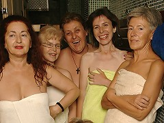 Ever take a peek in an all female mature sauna