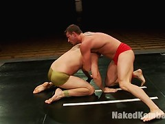 Rusty Stevens and David Chase are slamming their bodies to the mat for the fuck domi