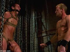 Scott Tanner humiliates and fucks Derrek Diamond in bondage.