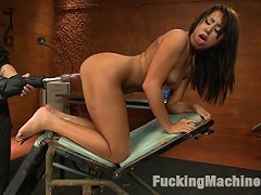 Bound kinky amateur, is blindfolded, teased with medical toys & vibes, then machine