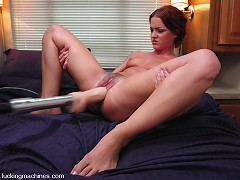 Sara Faye squirts nonstop from hi speed pussy pounding machines