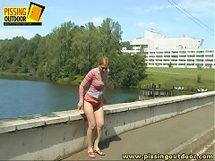 Olga has crossed the small river over the bridge when shes got an urgent desire to pee. She could