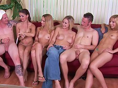 A game of Truth Or Dare ends up with raunchy group sex orgy