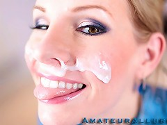 Aimee Addison returns to Amateur Allure and this time she wants a facial. This stunning blonde is