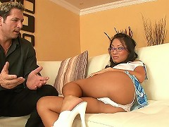 Asa Akira craves the cock in a one on one, up close and personal way.  She looks smart and spunky in her playful