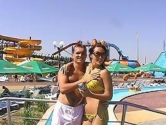 Couples porn from aqua park