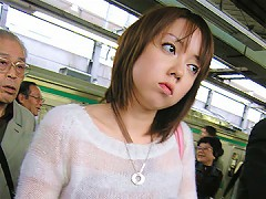 A poor Japanese teen is stalked onto a train, molested and dildo fuckedamateur asian