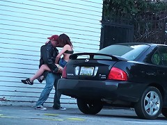 Check out this couple behind a church getting it on! I guess these two sexually repressed feins couldnt wait till