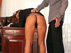 Christina Bella gets her freak on in the office