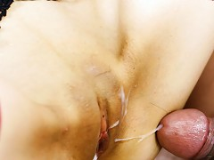 Megumi Morita is a hot Japanese milf.  She has firm tits, and a shaved cunt. She is getting her cunt li