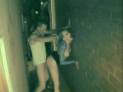 Dude gets busted picking up a hooker in the bar and fucking her in the alley in a police spy cam sting!