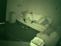 Chick doesnt know a nightvision camera is secretly filming her fingering her pussy in the employee lou