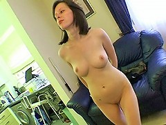 Young wife shows off her truly amazing body