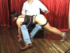 Check out a hot spanked ass in lingerie