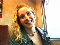 A naked ride with a hottie on a train