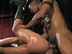 The interracial action continues with Element and Malik as this peg-loving duo continue their fetish love-in that had so ma