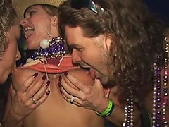 Day or night at Mardi Gras it does not matter there will be plenty of drunk gi