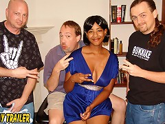 Desiree is a busty black girl that loves to party. Dirty D met her at the local sports pub and invited Desire