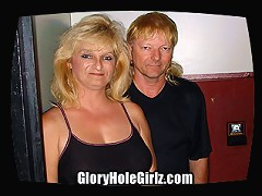 Mike is a long time member of the site and huge fan of the gloryhole. So Mike brought his wife Nicole along with a