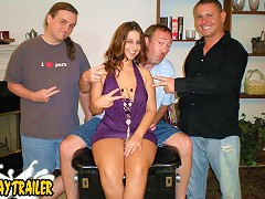 Lexy is a short busty well tanned three hole slut that loves to fuck. Dirty D invites some of his boys over t