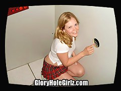 Teen Tammi loves to suck cock. So Dirty D took her to the Gloryhole where there is an endless train of d