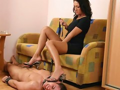 Its not easy to deserve a honour of massaging her feet. You need to prove you are real expert in it! There is a harsh pu