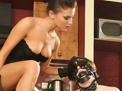 Mariannas favorite slave wanted to hide in the kitchen, but there is no escape from this beauty queen armed with