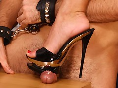 Striking Anna has prepared a present for all fans of forced female domination. Today fascinating busty blon