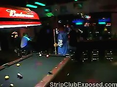 Its a sizzling dance scene with Sindy and shes gone wild at the billiards hall. Stripping off on front of the