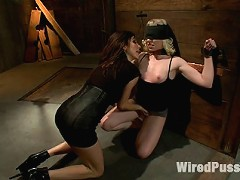 Haile James gets dominated for the first time ever next to kink virtuoso Sarah Jane Ceylon! Hot lesbian two girl bondage