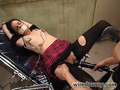 Bobbi Starr gets electrocuted and strap-on fucked by her nurse