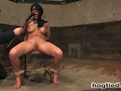 Victoria Sin, captured, bound and forced to squirt and cum.