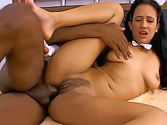 Cute slim Latina girl gets her asshole filled up by the biggest dick shes ever has inside of her