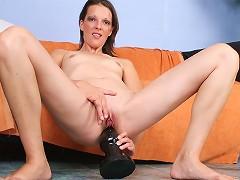 Alizia brutal dildo fucking