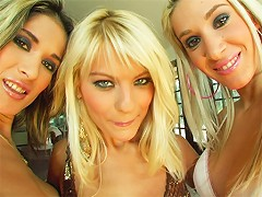 What a trio of horny sluts. One lucky fucker gets to bang all these chicks in the ass and give them a big load