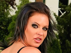 Emilie gets her ass fucked by two guys. They are so horny that they cannot wait drop their loads inside her ass. S