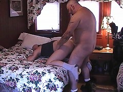 His cock was getting hard, but this bear had no motivation to get off. That is, until his hairy lover came in and g