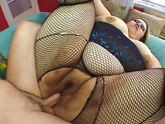 Give in to your wild side and join this nasty blonde fat slut as she pleasures her cock hungry holes with this raging rod. View her satis