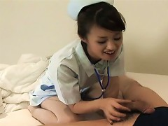 Nurse Ami Matsuda has all that you would ever need to relieve you of any illness. One patient seems to be suf
