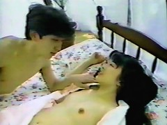 Feast your eyes at this lovely Oriental chick as she gets her sweet bush eaten raw by this Asian dude. Watch her pretty face as it sh