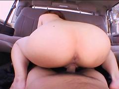 Big assed japanese slut Megumi Kato fucking a big dick on the backseat