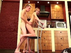 Iva was working on her chores when Dusan came over last night, however, he had something else that needed