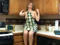 She is a horny teen slut who loves to cook. See her cooking breakfast when suddenly, she got hot and s
